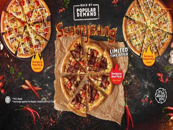 Piza Ssamjeang menawarkan sajian manis dan pedas yang pasti menyelerakan.