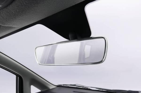 Cermin pandang belakang tanpa bingkai.