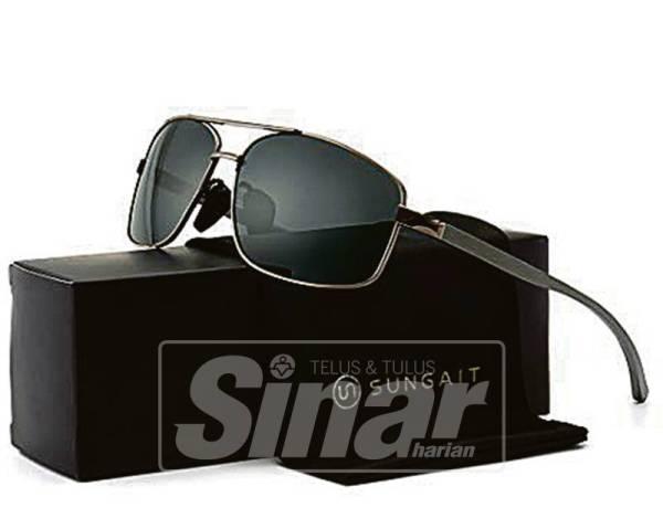 BOLEH dapatkan SUNGAIT Ultra Lightweight Rectangular Polarized Sunglasses UV400 Protection dengan harga RM62.31 (USD14.99) yang ditawarkan di www.amazon.com.