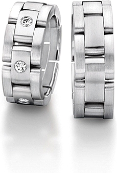 Furrer Jacot Sculptures Link Mens Wedding Band 71 22770 0 0