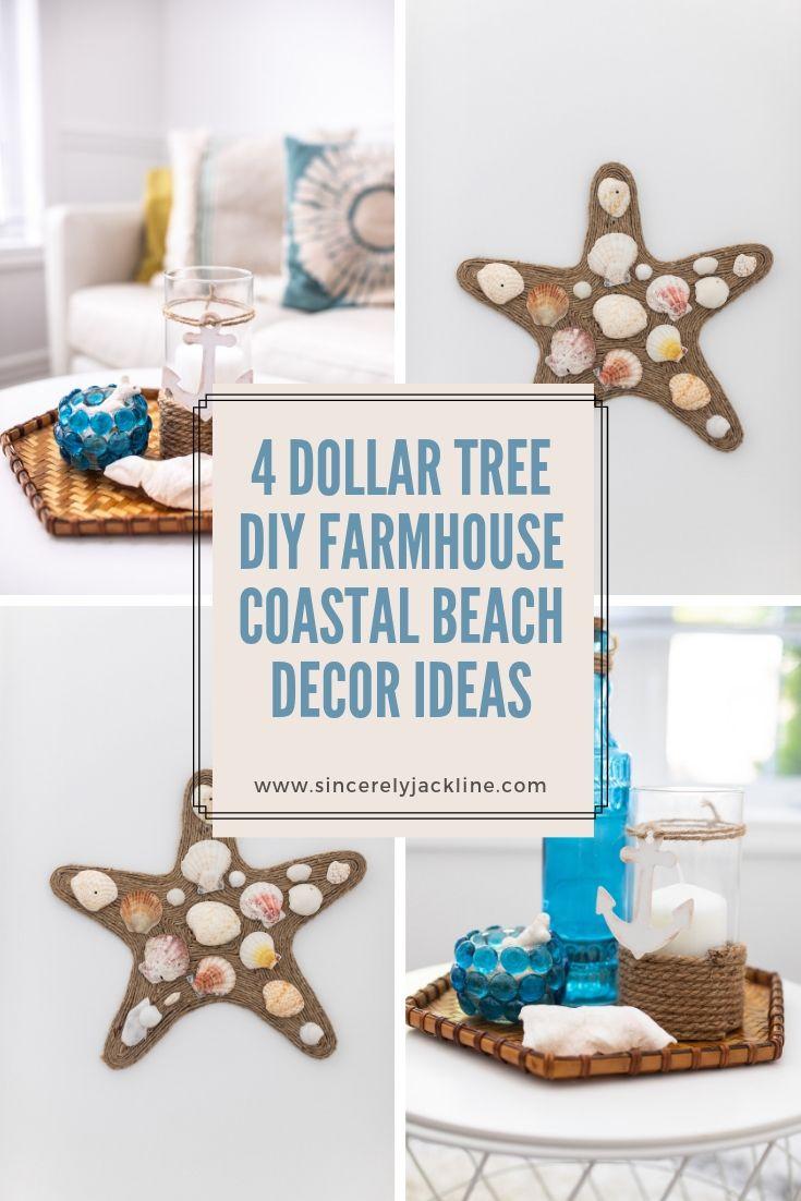 4 Dollar Tree Diy Farmhouse Coastal Beach Decor Sincerely