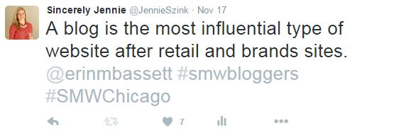 Sincerely, Jennie Social Media Week Chicago Review