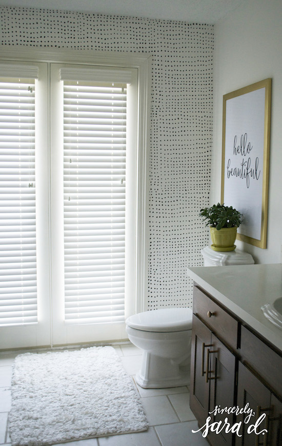BEHR Whisper White Bathroom Makeover  Sincerely Sara D