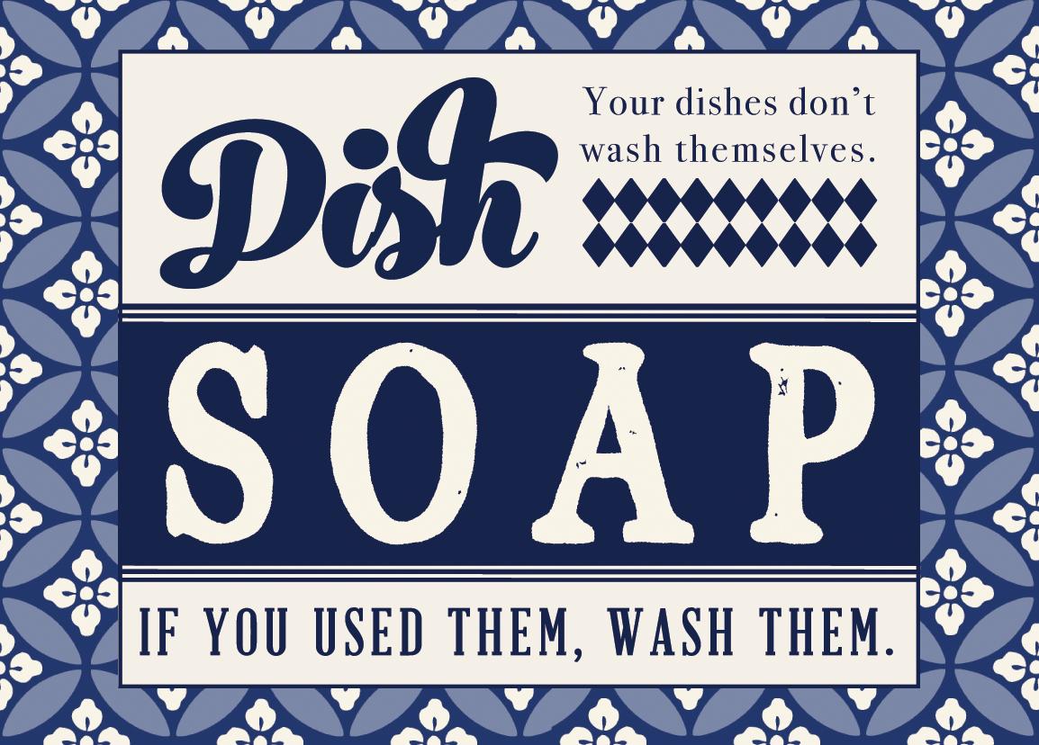 kitchen sink soap dispenser bottle kitchens on a budget printable dish label - sincerely, sara d.