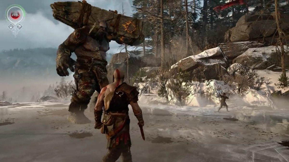 Kratos and Atreus vs Troll