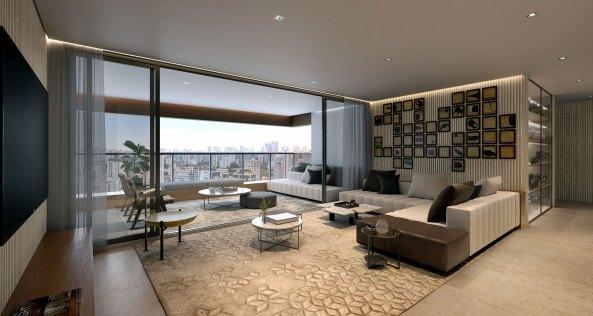 Apartamento Decorado Living