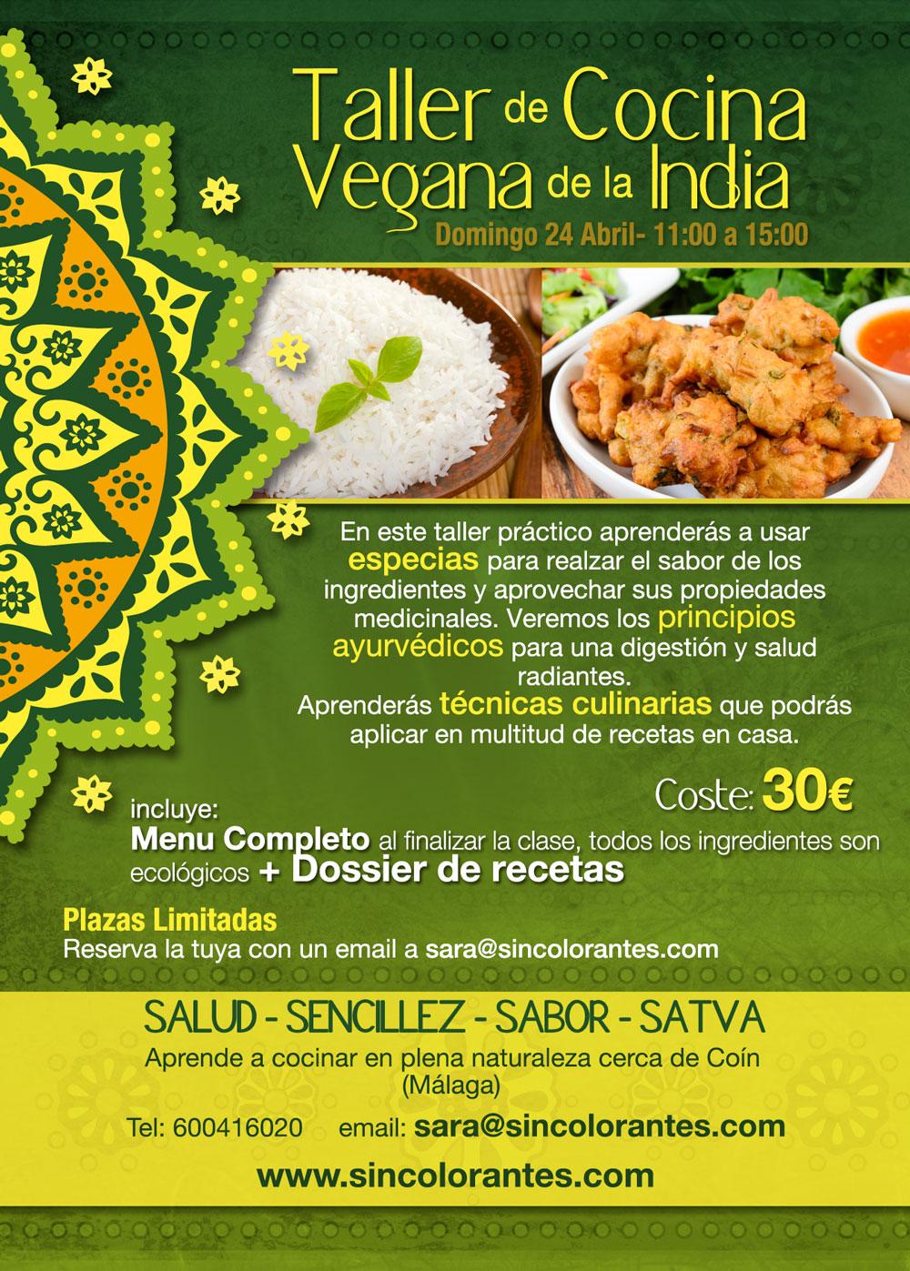 Talleres de Cocina India Vegana  sincolorantescom