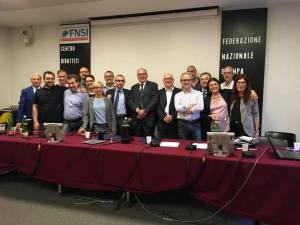 I rappresentanti delle Associazioni di stampa dopo la firma del contratto