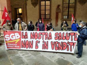 Read more about the article Bologna: LA RABBIA DEI LAVORATORI DELLA SCUOLA AL PRESIDIO DI OGGI  CONVOCATO DA SGB