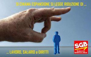 Read more about the article Si chiama espansione si legge riduzione, di lavoro, salari e diritti !!!