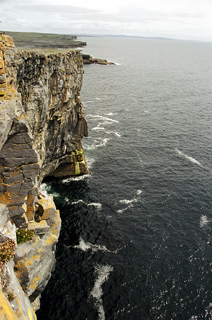 Sea cliff on Inis Mor
