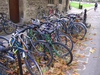 Bikes near the Manor Road building