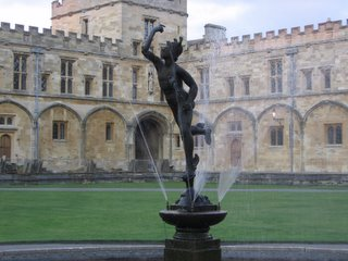 Statue of Hermes in the Christ Church main quad