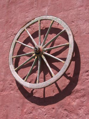 Wheel on wall