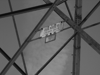 Electricity danger sign