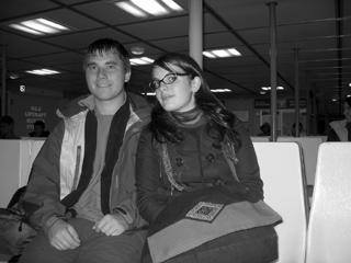 Caity Sackeroff and Milan Ilnyckyj, on the Seabus