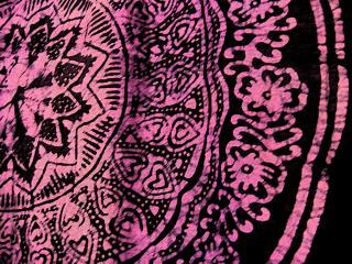 Cloth pattern, in sumi-e