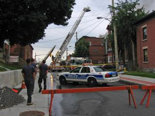Fire at Booth, near Somerset