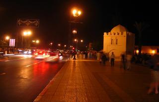 Marakkesh street at night