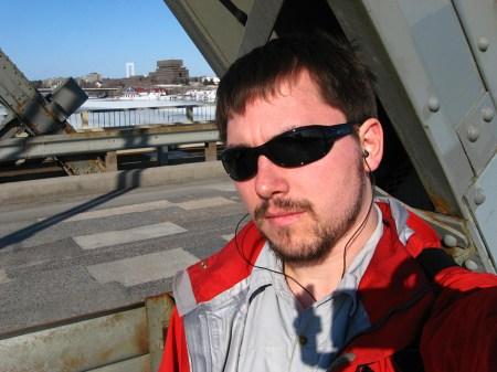Milan Ilnyckyj on the Alexandra Bridge, Ottawa