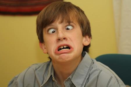 Dylan Prazak making a monstrous face