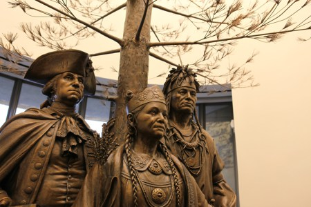 Statue at National Museum of the American Indian