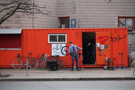 Outdoor bicycle repair