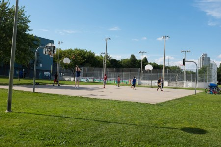Basketball in the park