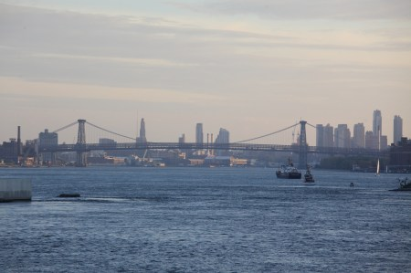 Looking south down the East River