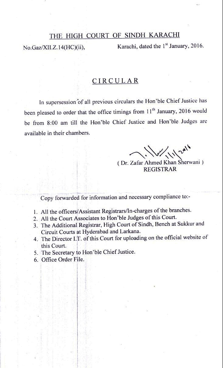 Circular About Office Timing Hr Letter Formats