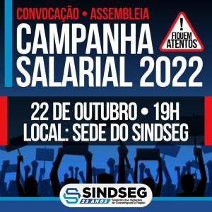 Convocação para a Assembleia da Campanha Salarial 2022