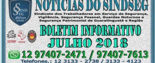 Boletim Informativo Julho 2018