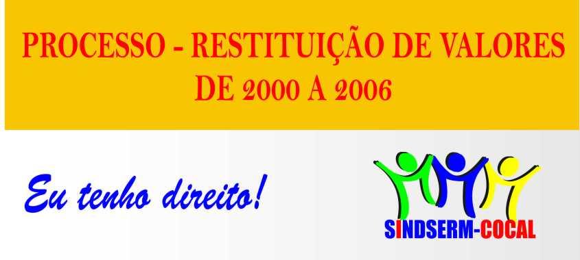 PROCESSO DE RECUPERAÇÃO DE DIFERENÇAS SALARIAIS DO FUNDEF 2000 A 2006