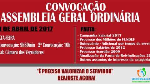 """<span class=""""entry-title-primary"""">EDITAL DE CONVOCAÇÃO: Assembleia Geral 21 de Abril</span> <span class=""""entry-subtitle"""">Dia 21 de abril de 2017</span>"""