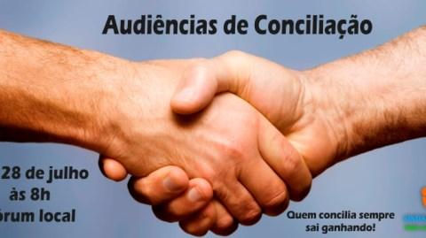 AUDIÊNCIA DE CONCILIAÇÃO (trabalhista) – 28 DE JULHO