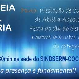 EDITAL DE CONVOCAÇÃO: ASSEMBLEIA GERAL ORDINÁRIA – 07 DE OUTUBRO