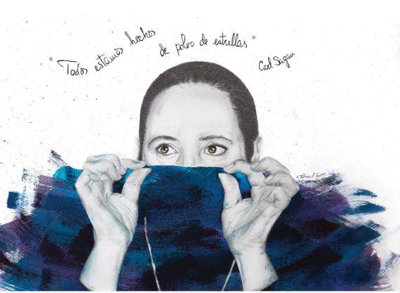 La muestra estará abierta hasta el 29 de abril en Hamburgo no. 6 esquina con calle Berlín, colonia Juárez. Una obra de la muestra Miradas que hablan. Autora: Patricia Fornos