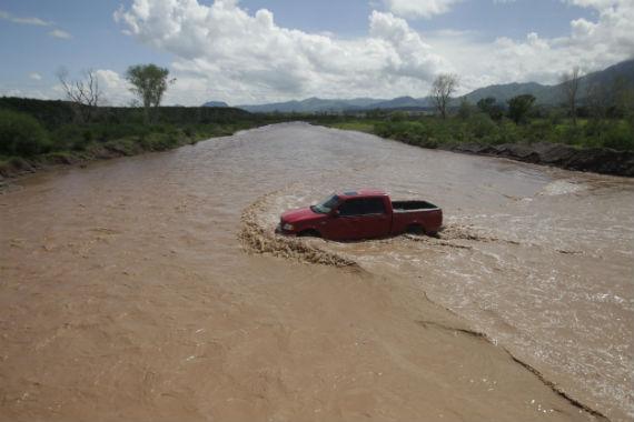Estado actual del Río Sonora. Foto: Cuartoscuro