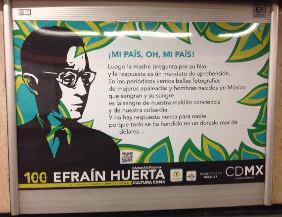 Cartel en el Metro Tacubaya. Foto: Facebook