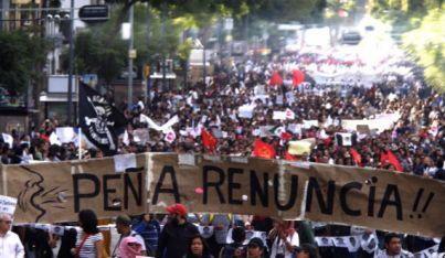 Comité Civil responsabiliza al Estado por la desaparición de normalistas. Foto: Francisco Cañedo, SinEmbargo