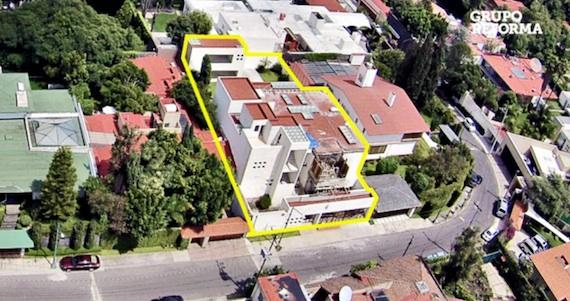 La residencia está valuada en 20 millones de pesos. Foto: Tomada de video.