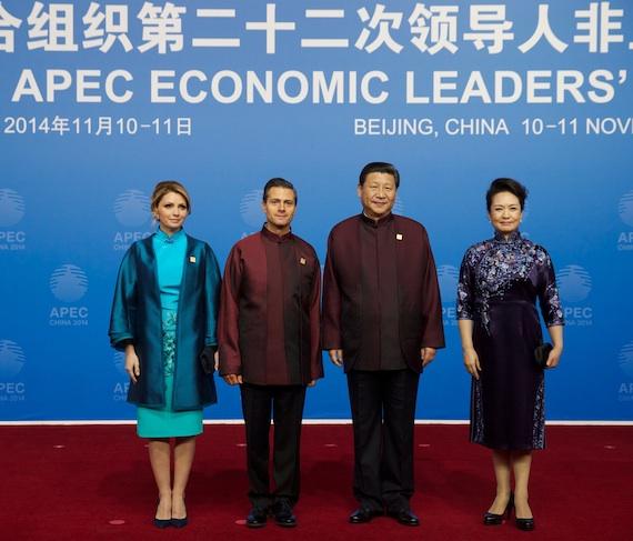 """El más reciente viaje que hizo la pareja presidencial fue a China. Durante su estancia, surgió escándalo por """"casa blanca"""". Foto: Notimex"""