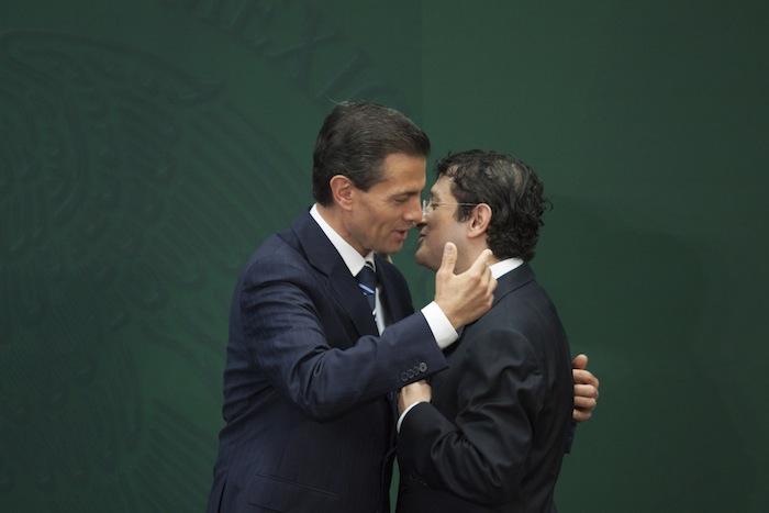 El día en que Virgilio Andrade asumió la Función Pública para investigar a Peña Nieto por presuntos conflictos de interés. 3 de febrero de 2015. Foto: Cuartoscuro.