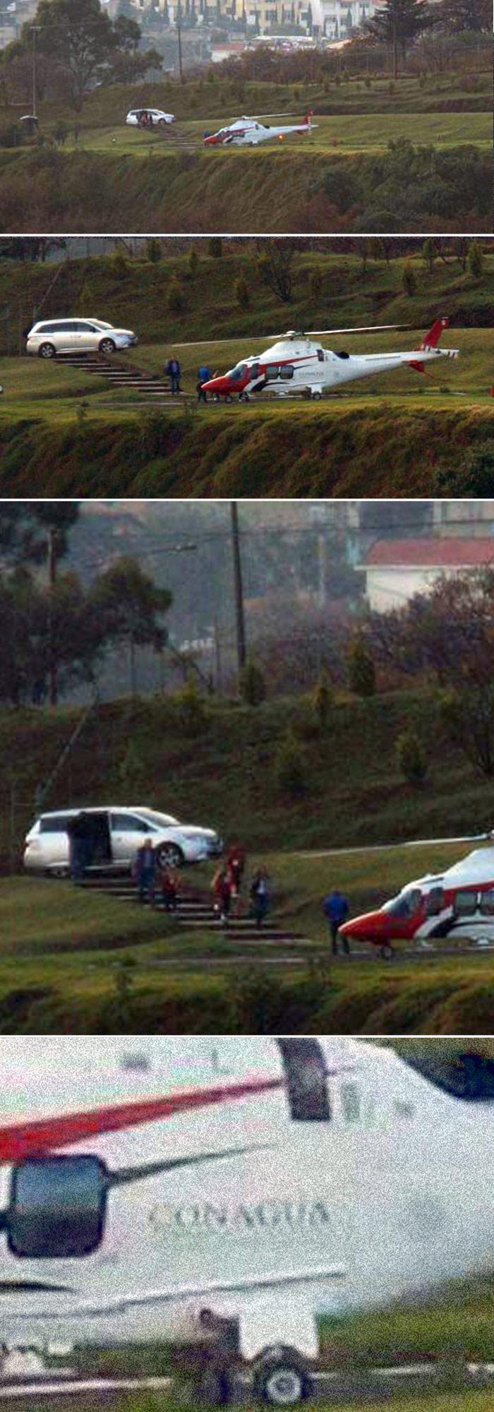 Algunas de las fotos difundidas por vecinos del ex Alcalde de Huixquilucan y ahora titular de Conagua. Fotos: Facebook