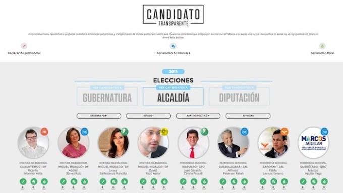 Ocho candidatos a alcaldías ya hicieron públicas sus declaraciones. Foto: Twitter @imcomx
