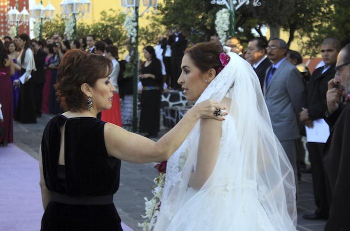 Rosario Robles en la boda de su hija. Foto: Cuartoscuro