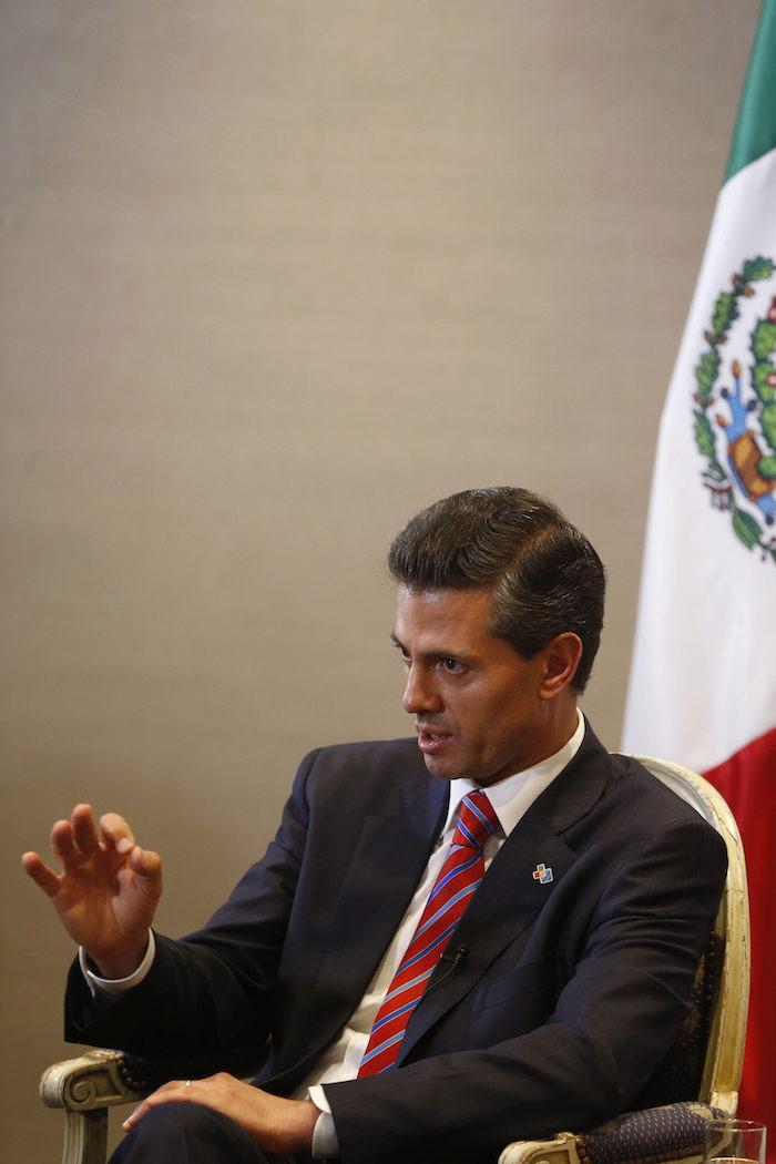 Enrique Peña Nieto, durante la entrevista concedida a la Agencia Efe.