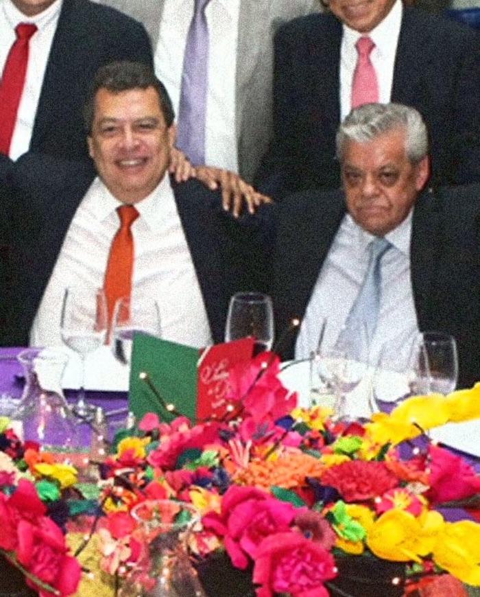 Los ex gobernadores de Guerrero Aguirre Aguirre y Rubén Figueroa. Foto: Gobierno de Guerrero