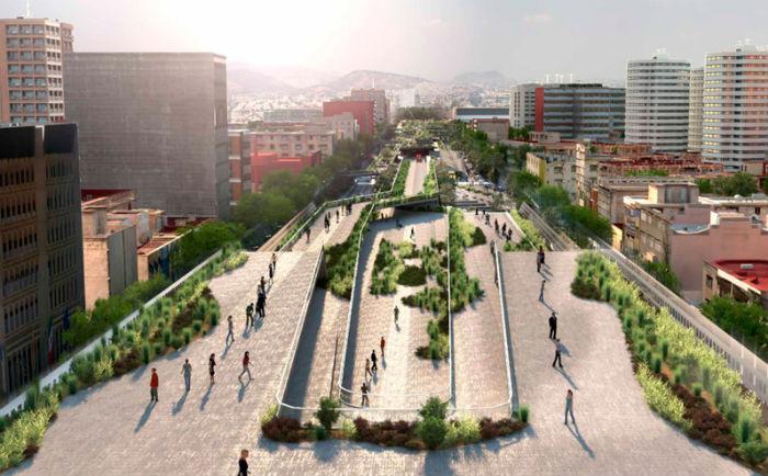 El diseño del arquitecto Fernando Romero para el Corredor Cultural Chapultepec-Zona Rosa. Foto: ccchapultepec.mx