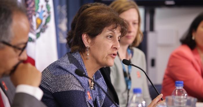 Patricia Uribe, Directora general de CENSIDA. Foto: Francisco Cañedo / SinEmbargo
